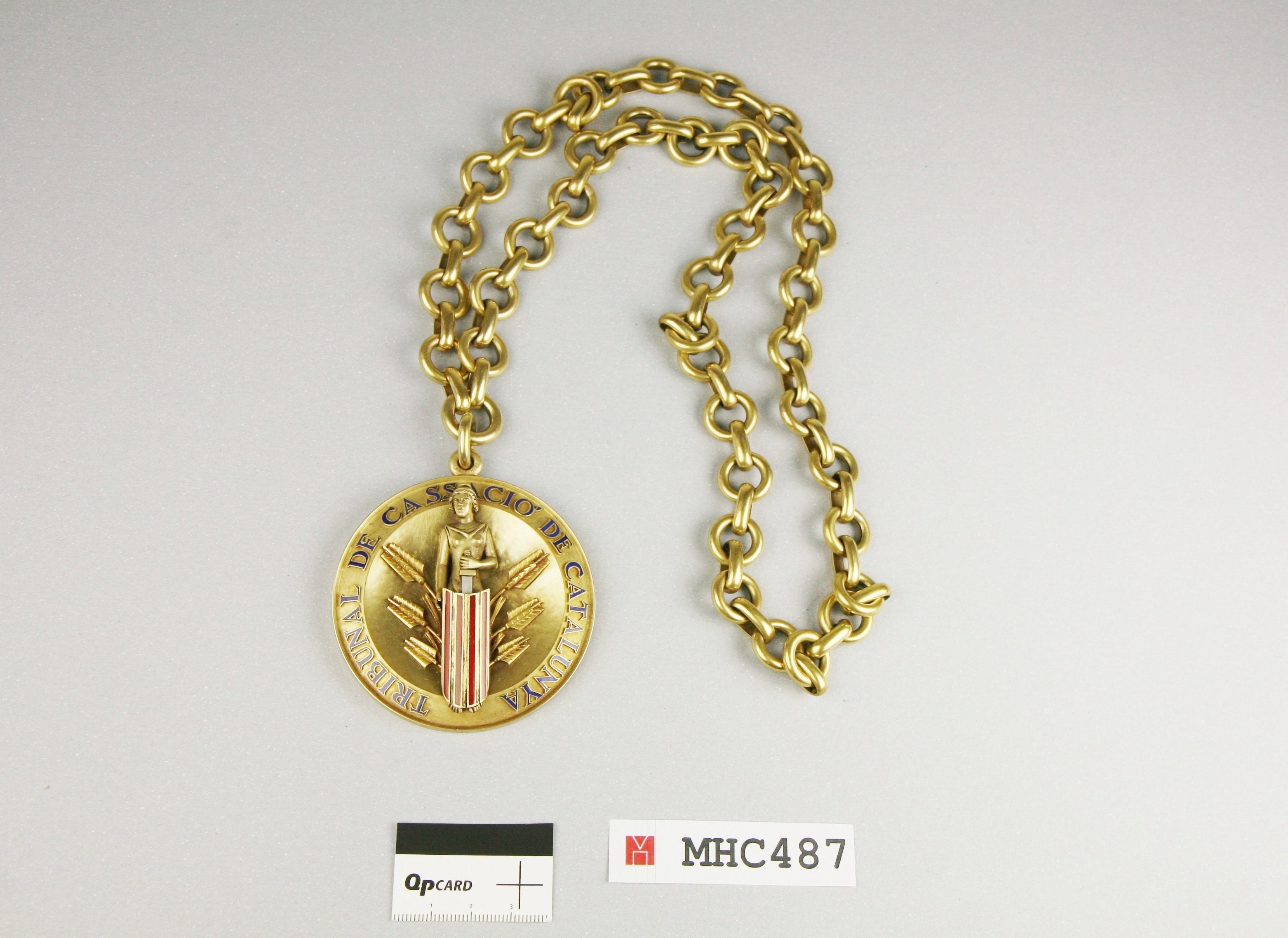 Medalla del Tribunal de Cassació de Catalunya.