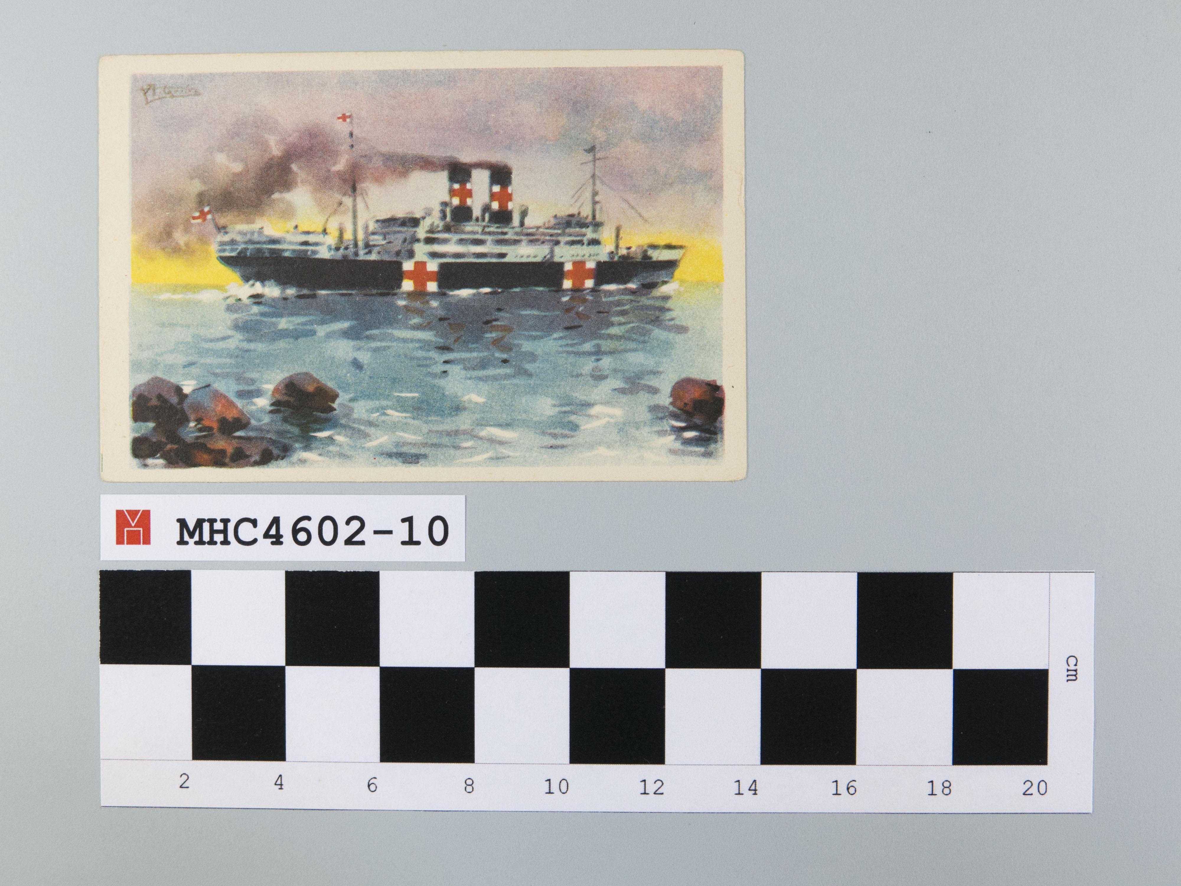 """""""Marqués de Comillas"""" Hermoso buque de nuestra flota mercante, habilitado para hospital de sangre de la Cruz Roja."""