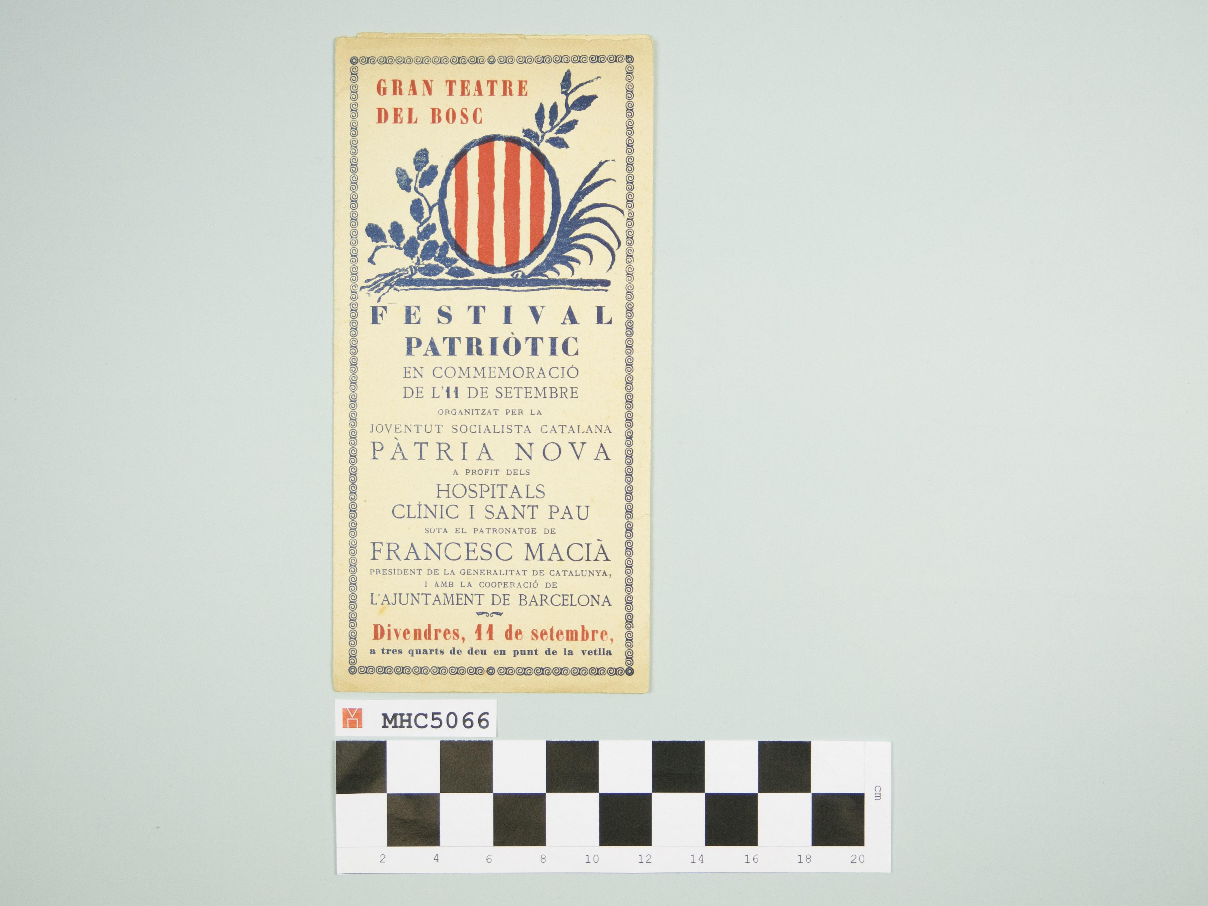 Festival patriòtic en commemoració de l'11 de setembre.