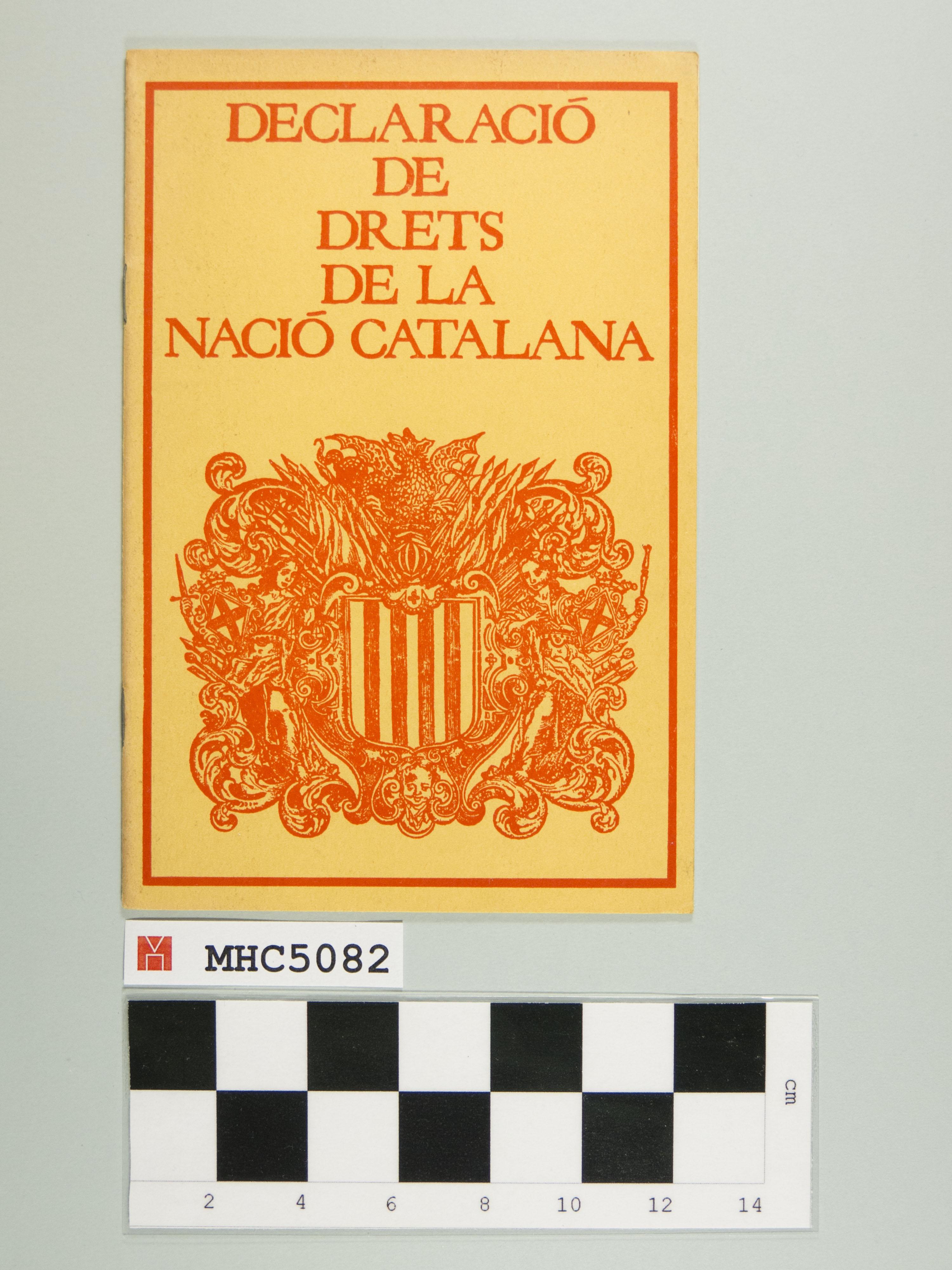 Declaració de drets de la nació catalana.