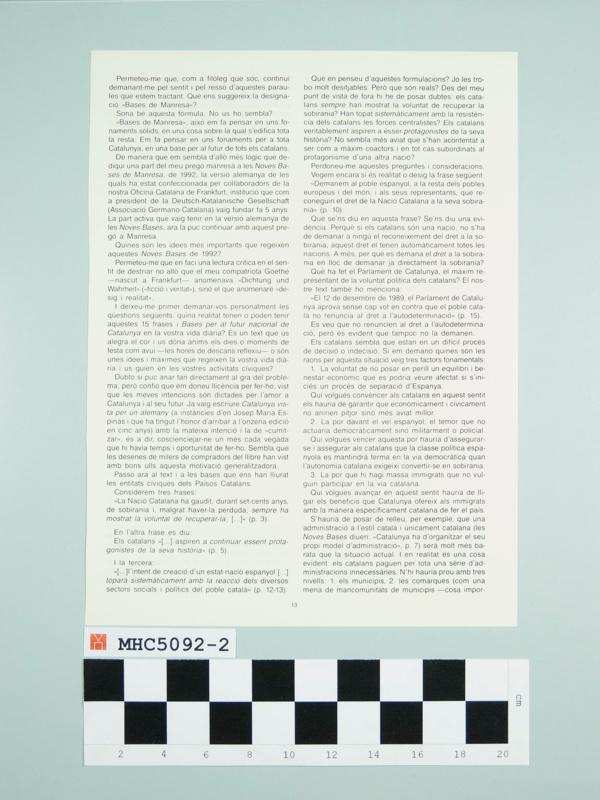 Butlletí Interior Informatiu d'Òmnium Cultural.