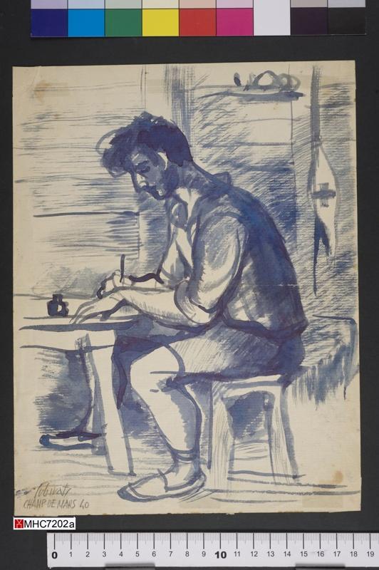 Artista al Camp de Mart.