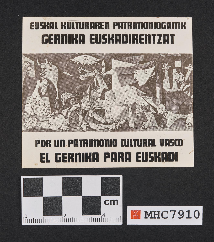 Por un patrimonio cultural vasco. El Gernika para Euskadi.