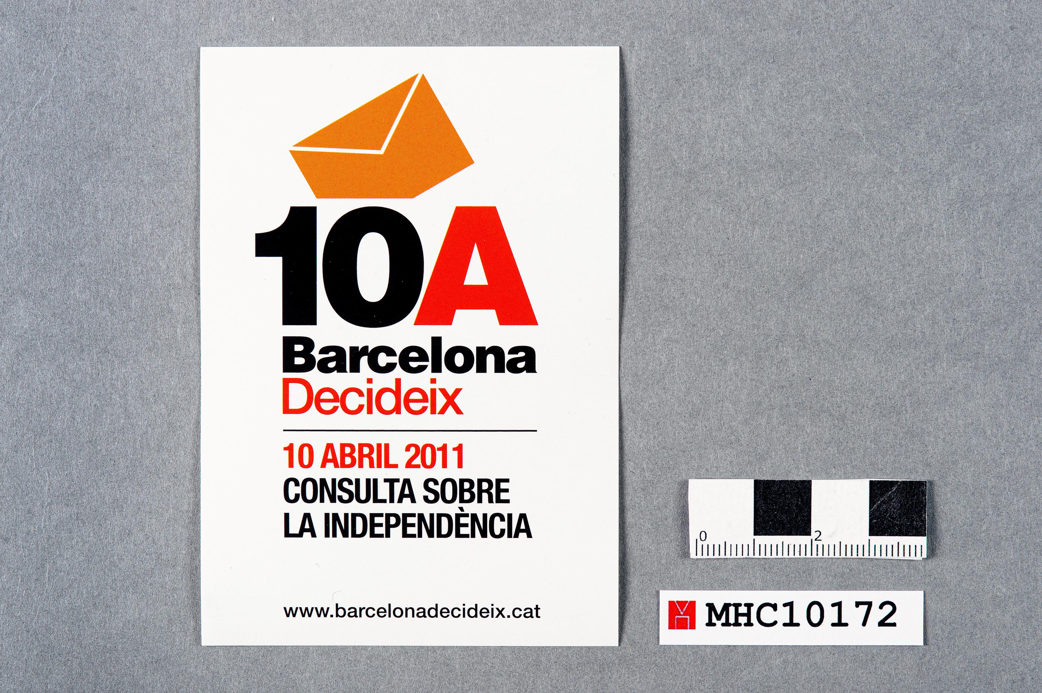 10A Barcelona decideix. 10 abril 2011 consulta sobre la independència