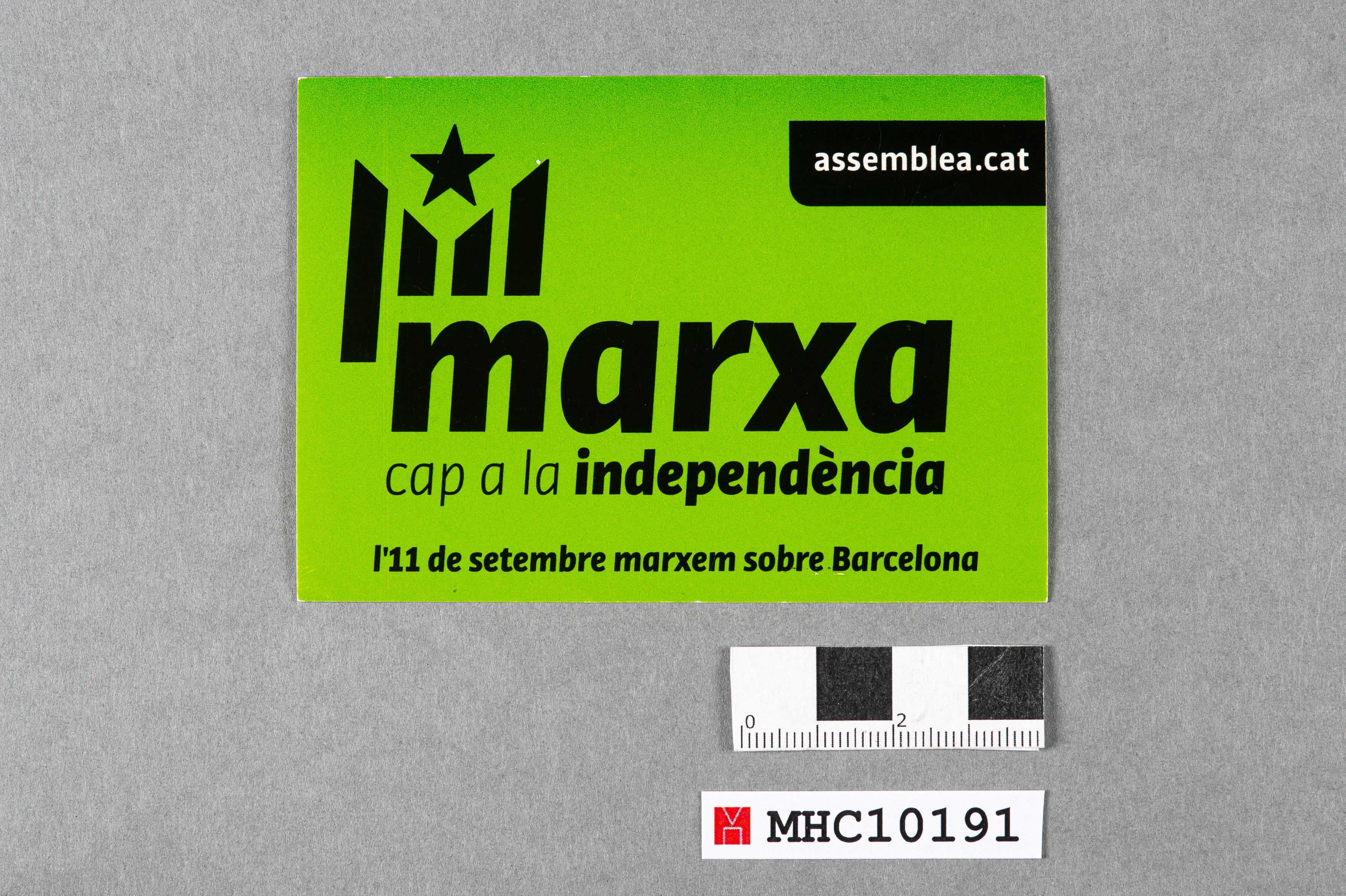 Marxa cap a la independència. L'11 de setembre marxem sobre Barcelona